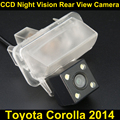 Car rear view camera for Toyota Corolla 2014 CCD Night Vision BackUp Reverse Parking Camera