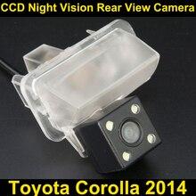 Auto videocamera vista posteriore per toyota corolla 2014 ccd night vision inversione di sostegno parcheggio camera