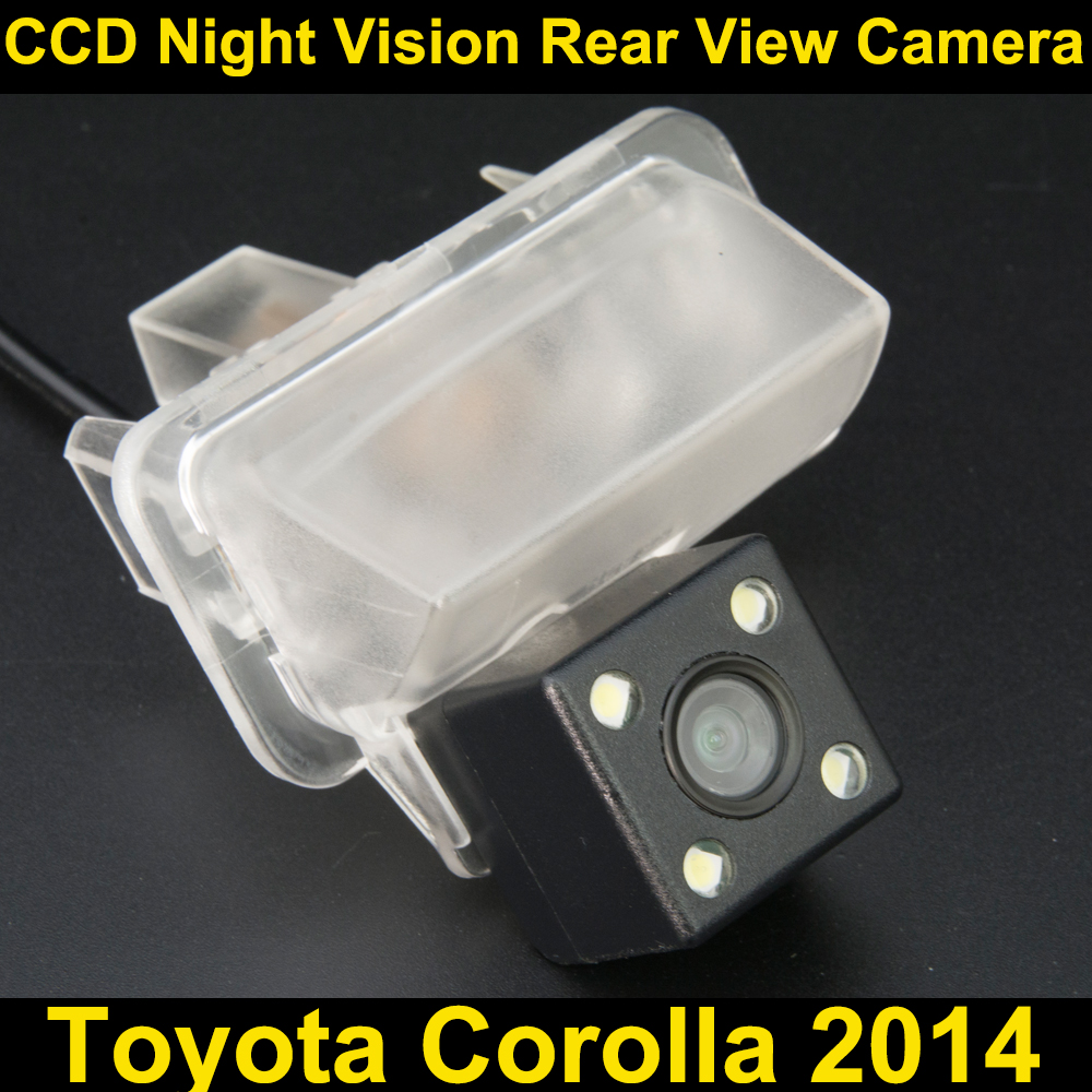 Car rear view camera for Toyota Corolla 2014 CCD Night Vision BackUp Reverse Parking Cam ...