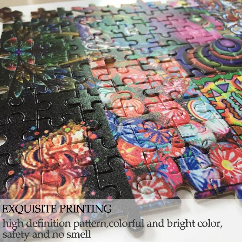 MOMEMO tout Naruto personnes Puzzle 1000 pièces en bois Puzzle adultes jouets personnalisés Naruto en bois 1000 pièces Puzzle - 3