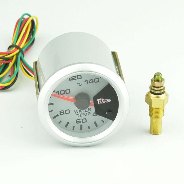 52mm temp agua medidor de temperatura del medidor Automático de agua de colores 7 Color de retroiluminación envío gratis