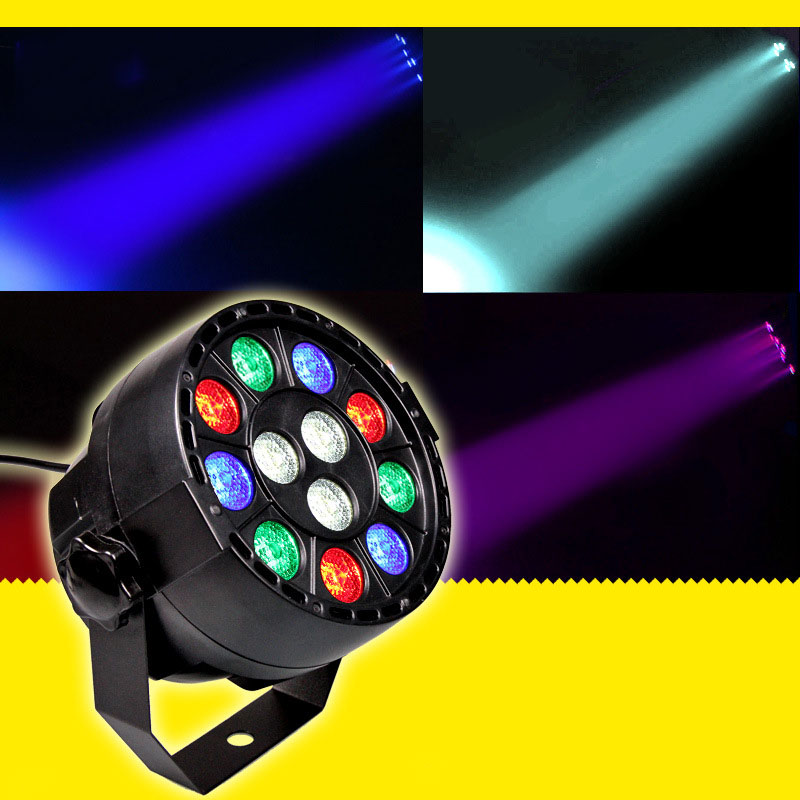 Stage Light 12x3W Flat LED Par RGBW DMX512 Disco Lamp KTV Bar Backlight Laser Beam Projector Dmx Controller Spotlights  led stage light effect 12x3w flat par rgbw dmx512 dj disco lamp ktv bar party backlight laser beam projector dmx spotlight