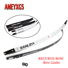 1pair Archery 6/68/70inch Recurve Bow Limbs Ceramic Foam Core 16-40lbs ILF Bow Limbs For Hunting Sports Shooting Accessories недорого