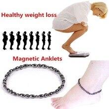 Black Gallstone Magnetic Anklet Bracelet Magnetic Healthcare font b Weight b font font b Loss b