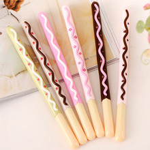 6pcs/lot Cookie Biscuit Gel Pen , Cute Chocolate Bar for Kids Writing