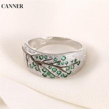 Canner Retro Rings 925 Silver Zircon Rhinestone Tree Branch Vintage For Women Girl Wedding Engagement Fashion Jewelry 2019