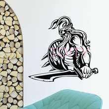 WALL DECAL VINYL STICKER ANCIENT WARRIOR VIKING NORDIC DECOR H57cm x W60cm(China)