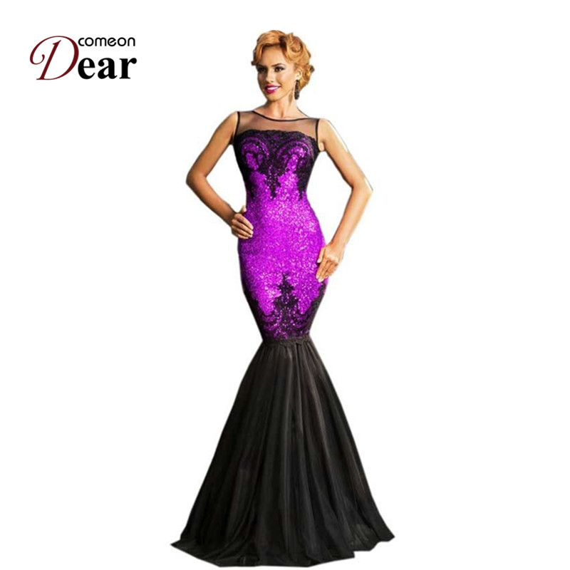 Buy Cheap RJ80196 Comeondear Fashion Elegant Party Dress 5 Color Sequined Highly Recommended Women Formal Dresses New Mermaid Long Dress