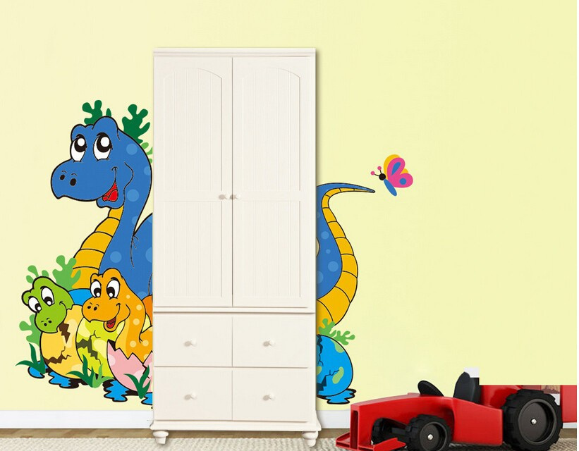 & 3d Through dinosaur Wall Stickers Decals for kids rooms Art for ...