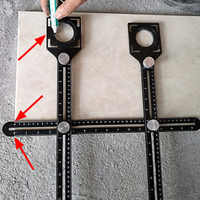 Tile Hole Locator - Multi-Functional Adjustable Tool Masonry Glass Fixed Punch Angle Measuring Ruler Tile Artifact Template