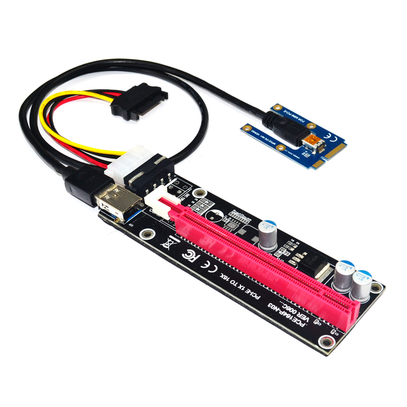 Mini PCIe To PCI Express 16X Riser For Laptop External Graphics Card EXP GDC BTC Antminer Miner MPCIe To PCI-e Slot Mining Card