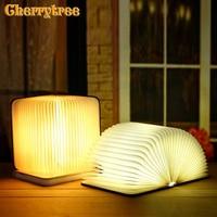 Led night light Book Six colors lamp USB booklight reading Mini Table Light Lithium Ion Bedroom Decor Lighting decorative led