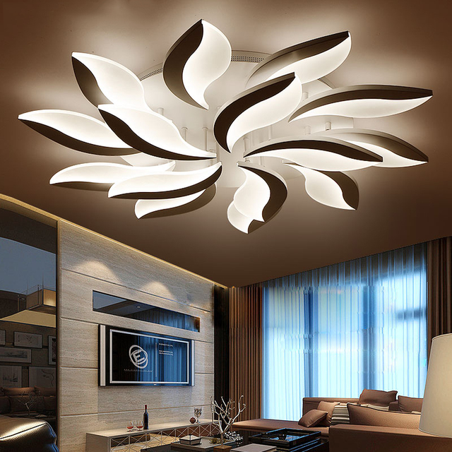 Neo Gleam New Design Acrylic Modern Led Ceiling Lights For Living Study Room Bedroom Lampe Plafond