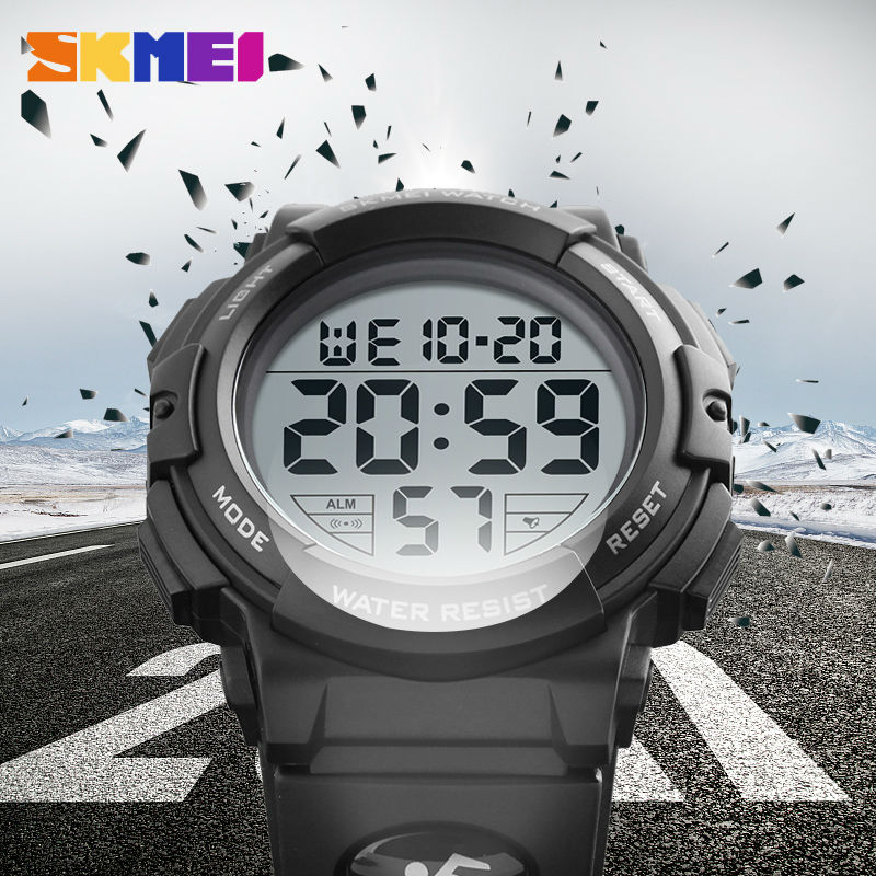 Skmei Luxury Brand S SHOCK Mens Sports Watches Digital LED Military Watch Clock Men Fashion Casual Electronics Wristwatches 1258 2018 skmei fashion brand shock resistant watch outdoor men military watches men s led digital watch casual sports wristwatches