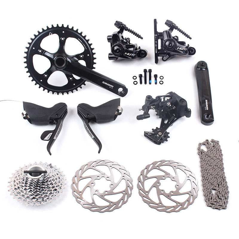 SRAM RIVAL 1 & APEX 1 11s 1x11s Road Bike Groupset 44T 170mm 11-32T & NUTT DISC Brake 140mm APEX 1 Rear Derailleur shimano slx m7000 1x11s 11s speed groupset and hydraulic disc brake 170mm 175mm 32t 34t for mtb mountain bike