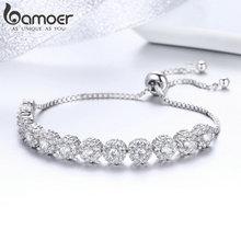 Classic Zircon Silver Color Bracelet YIB041