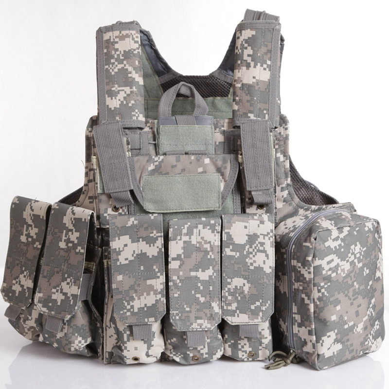 Hunting Clothes Gear Tactical Vest Molle CIRAS Airsoft Combat Vest W/Magazine Pouch Releasable Armor Plate Carrier Strike Vests