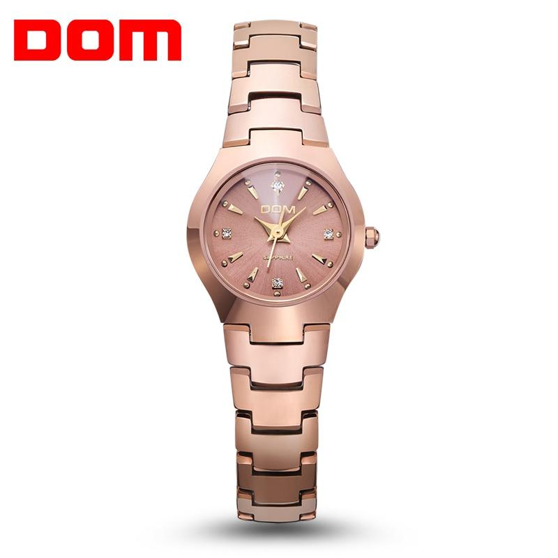 Hot sale Watch women fashion luxury Brand Top gold Watch DOM 398 quartz women wristwatches waterproof  watches relogio feminino
