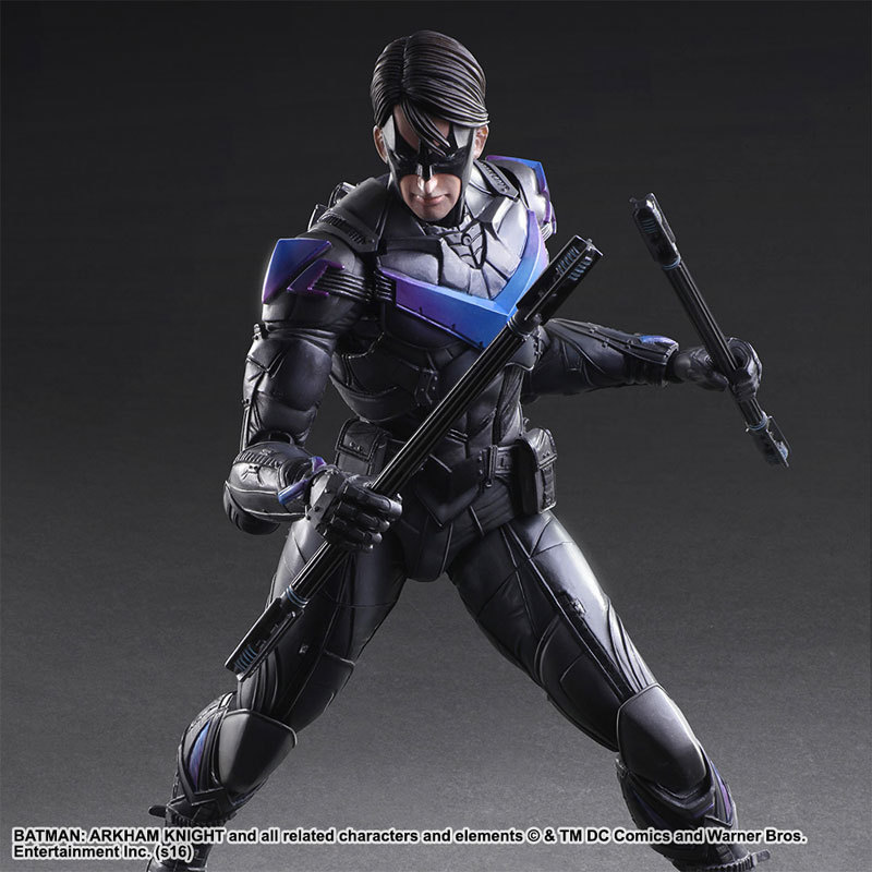 NEW hot 25cm Batman Arkham Knight Justice league Nightwing Enhanced version action figure toys collection Christmas gift new hot 28cm justice league supergirl superman enhanced version action figure toys collection christmas toy doll with box