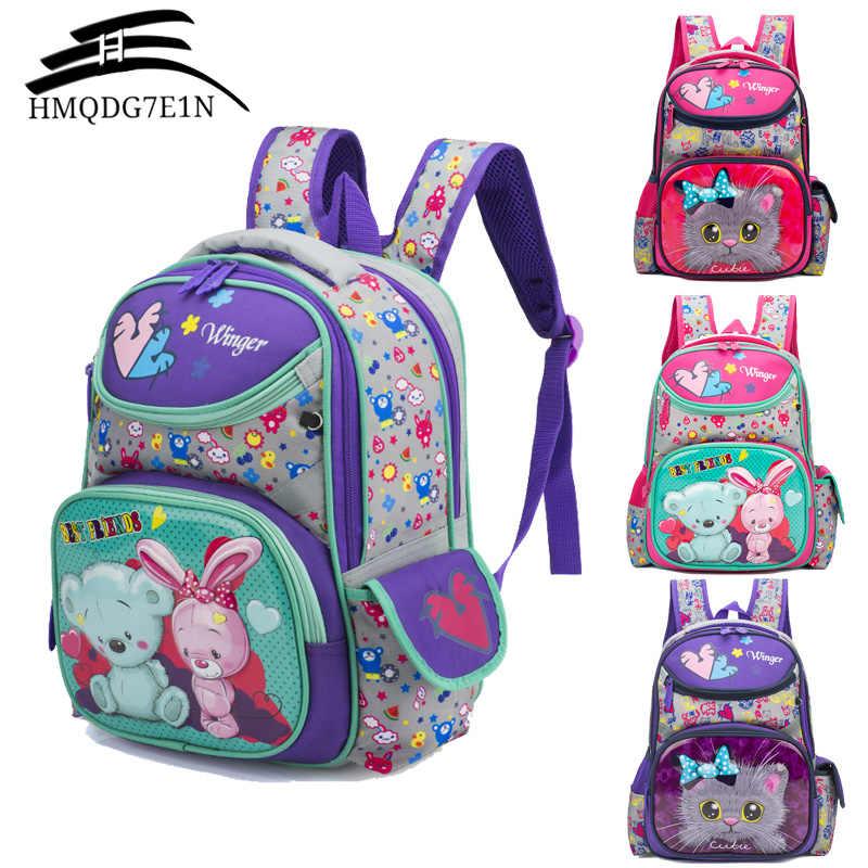 3D Мультяшные школьные рюкзаки для девочек, детские школьные рюкзаки для девочек, ортопедический рюкзак принцессы, Детские ранцы, школьные сумки, ранец