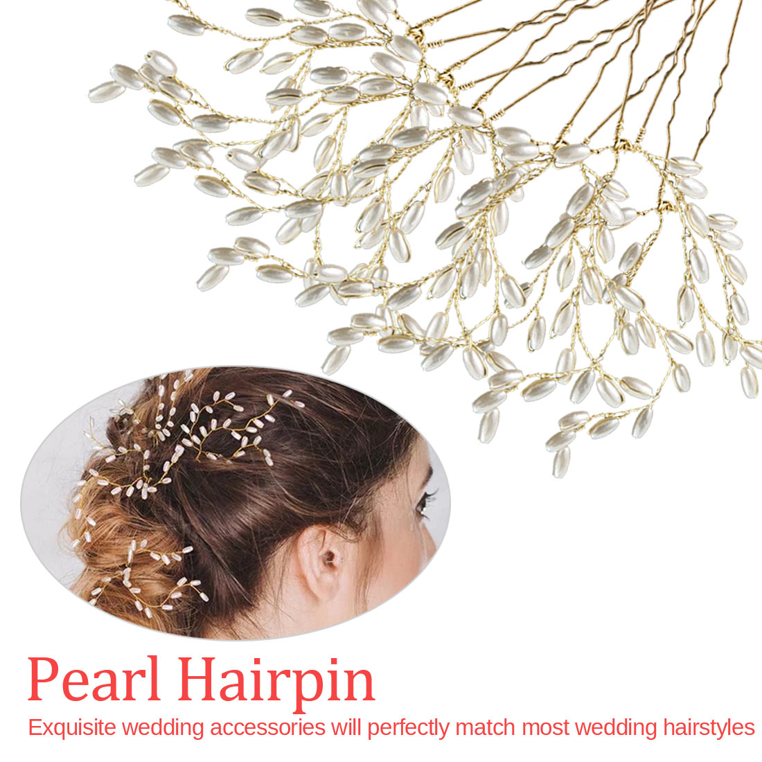 Fashion Head Jewelry Women Golden Alloy With Pearl Headdress Beaded Elegance Wedding Hair Accessories For Women in Hair Jewelry from Jewelry Accessories
