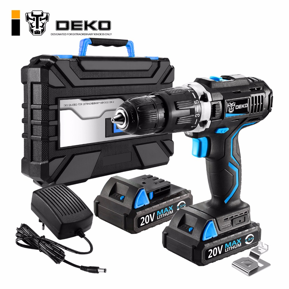 Electric Cordless Drill 20V Max DC Lithium Ion Battery 1/2 Inch 2 Speed Mini Screwdriver DIY Powe Tools Local Delivery