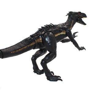 "Image 4 - 15 ס""מ indoraptor פרק יורה העולם 2 דינוזאורים משותף מטלטלין פעולה איור צעצועים קלאסיים ילד ילדי חג המולד מתנה"