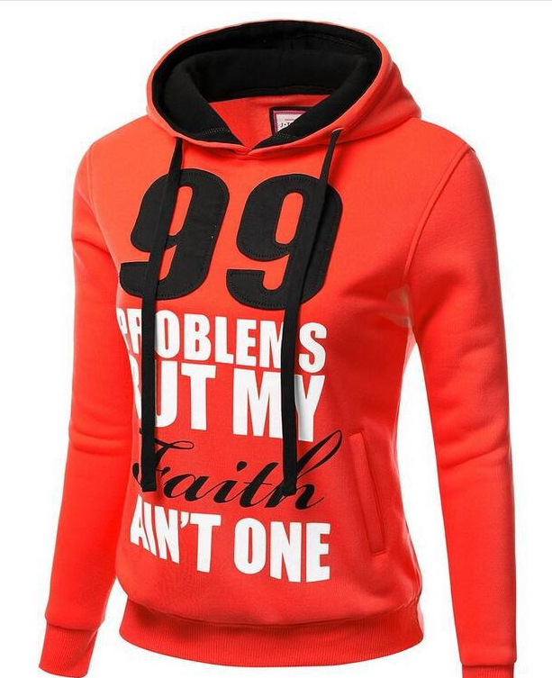 Fashion Women Letter Printed Hoodie Sweatshirts Casual Hooded Long Sleeve Pocket Design Pullover Loose Tops