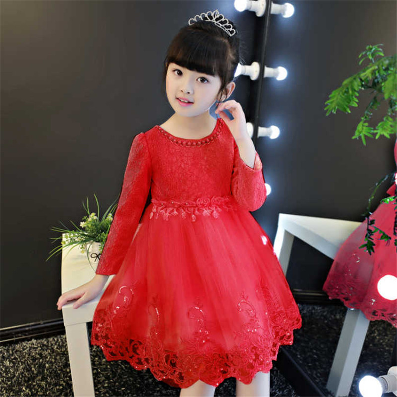 Floral Princess Dress Baby Girl 2018 Spring Cotton Wedding Dresses for Girls Kids Clothes Sweet Lace Children Clothing 3ds300 clearance baby dresses princess girls dress 2 5years cotton clothing dress summer clothes for girl