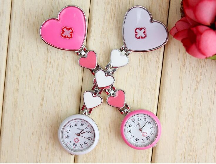 Free shipping Clip Nurse Doctor Pendant Pocket Quartz Red Cross Brooch Nurses Watch Fob Hanging Medical new fashion clip nurse doctor luminous pendant pocket watches quartz red cross brooch nurses watch fob hanging medical watch