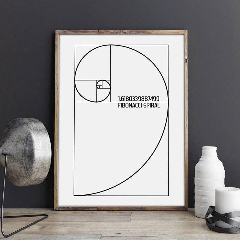 Fibonacci Spiral Golden Ratio Canvas Prints