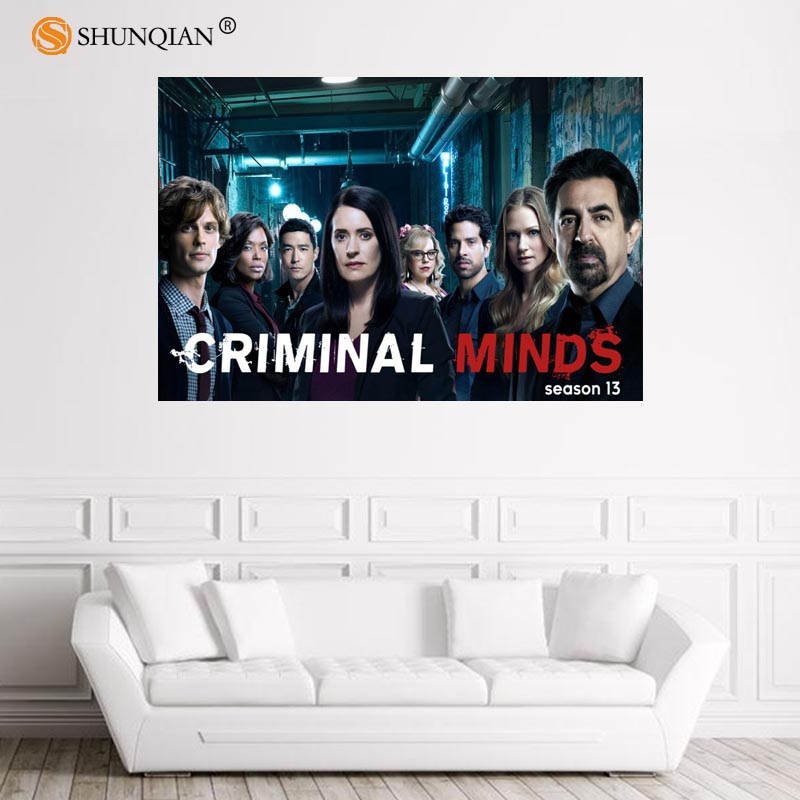 Nice Criminal Minds Poster Custom Satin Poster Print Cloth