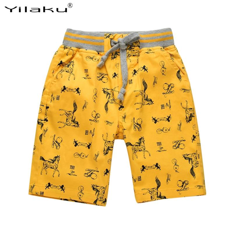 Yilaku Kids Boy Clothing   Shorts   Cotton Toddler Cartoon   Shorts   Kids Clothes Boys Horse Printing Beach   Shorts   Pants CI033