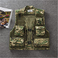 Men'S Summer Mesh Camouflage Vest With Many Pockets Vest Leisure 3D Printing Thin Men Vest Mv91058