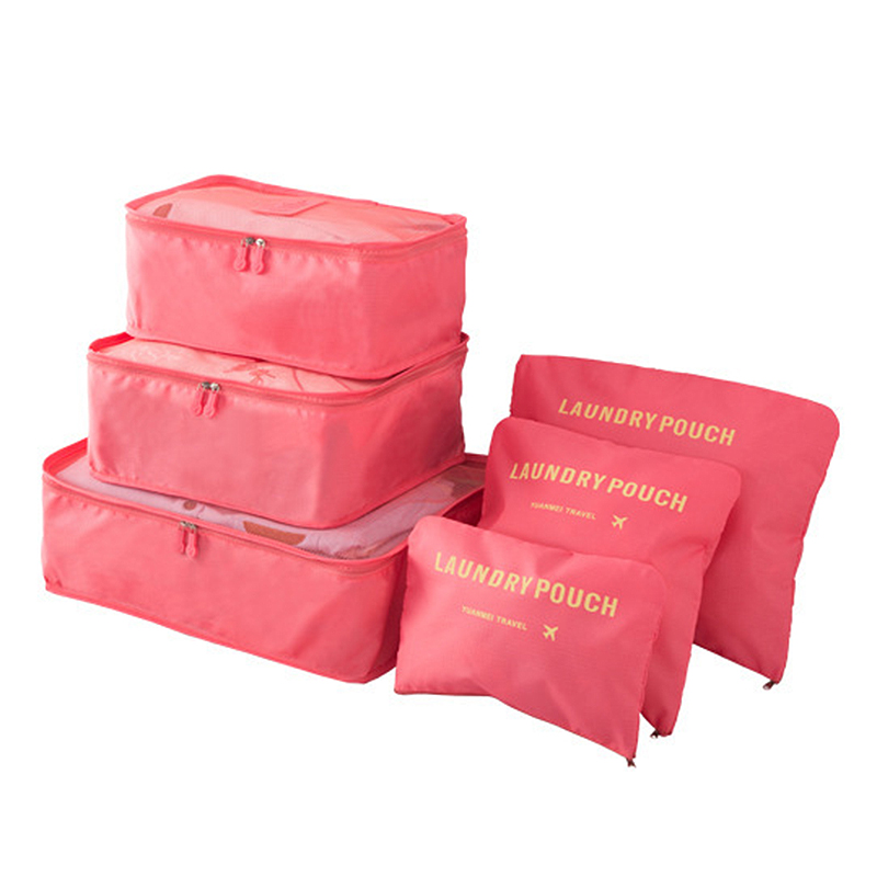 6PCs/Set Travel Storage Bag High Capacity Clothes Tidy Pouch Luggage Organizer Portable Container Waterproof Storage Case