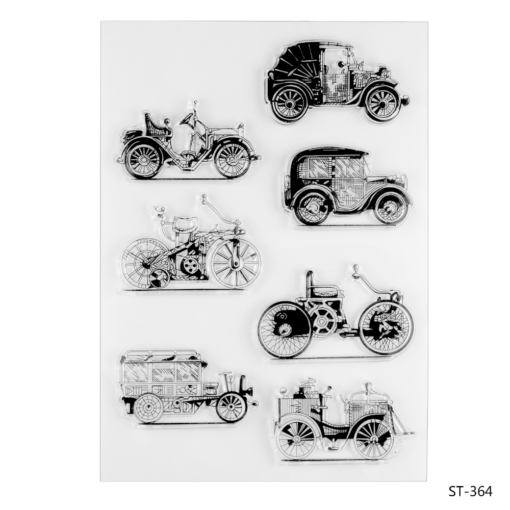 Scrapbook DIY Photo Card Account Rubber Stamp Clear Stamp Transparent Classical Cars 15*21CM