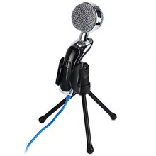 2016 New Arrival SF-922B USB Condenser Microphone Mic Studio Audio Sound Recording with Stand Black