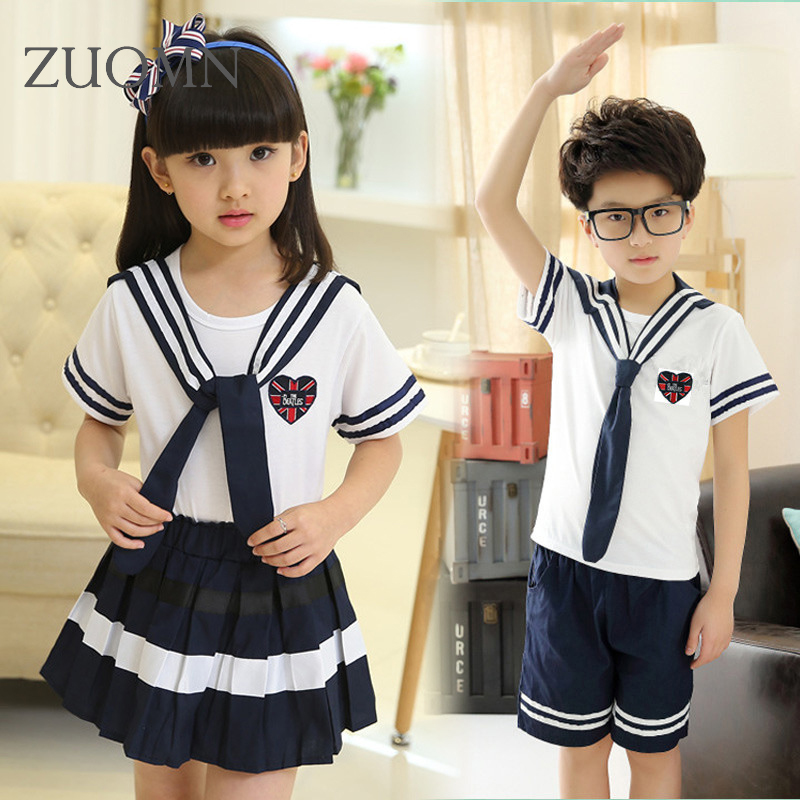 Childrens Costumes Set School Uniform for Girls Boys Cheerleader Students Sports Wear Suit Kid School Uniforms Boy Clothes YL283 causes for low achievement among school final students