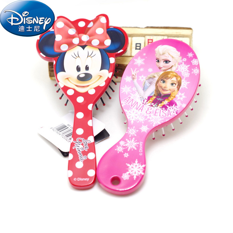 Disney 2018 Kids Comb 3D Frozen Princess Cute Hair Brushes Hello Kitty Hair Care Baby Girl Mermaid Hair Comb Gift for Girls D002