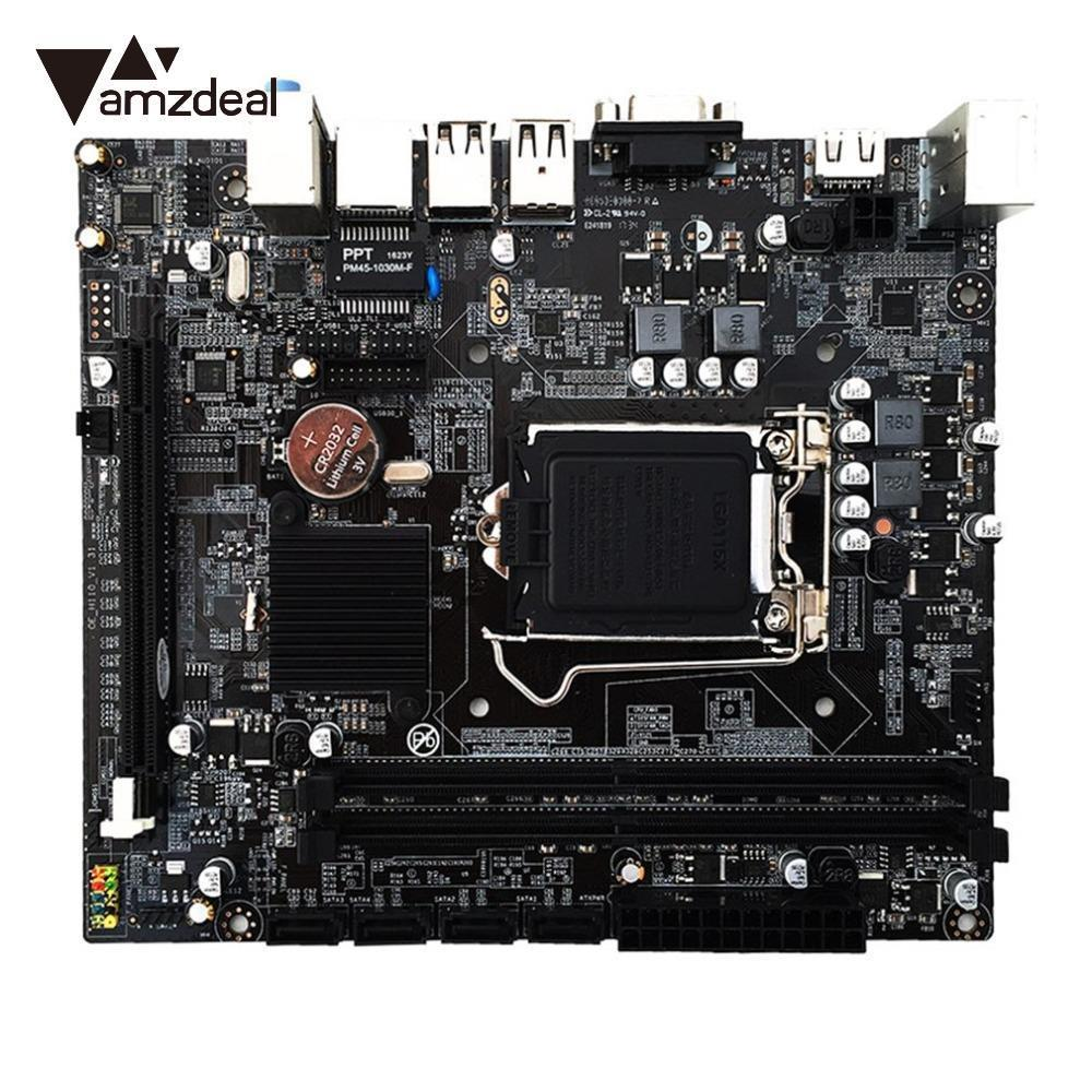 AMZDEAL H110 Motherboard LGA1151 Computer PC Stystemboard Mainboard Desktop Module for Intel Skylake 6 Generation Core ...