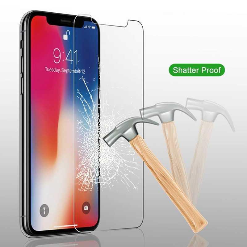 واقي للشاشة لفون XX ماكس XR XS 6 6 ثانية زائد X 7 8 زائد 5 5 ثانية SE 4 4 ثانية الزجاج المقسى طبقة رقيقة واقية pelicula دي vidro 2019
