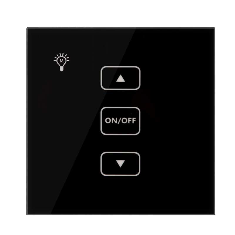 MVAVA Intelligent Touch Light Dimmer Switch Luxury Crystal Glass Black Brightness Control Switch Wall Decorative Free Shipping mvava ceiling fan rotate turn on off dimmer switch speed control wall decorative 500w luxury glod crystal free shipping