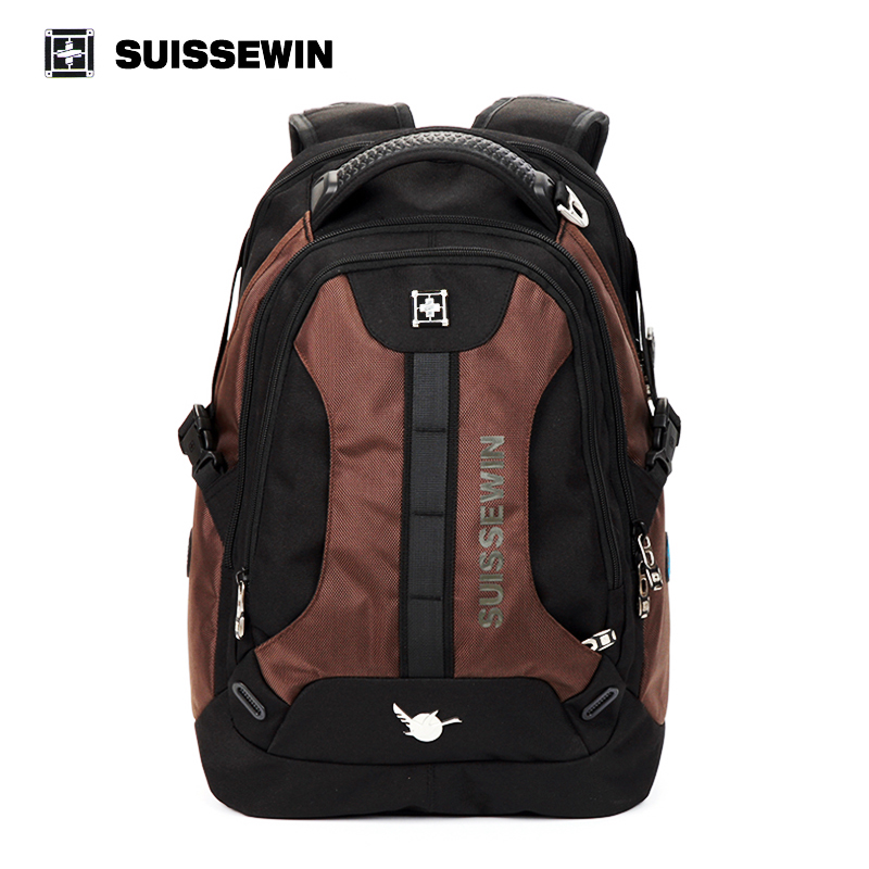 ФОТО Suissewin New Mens Casual Business Backpack Travel Accessories Swissgear Wenger High Quality Brand 15.6 inch Laptop Bags Mochila
