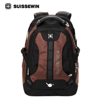 Suissewin New Men S Casual Outdoor Backpack Travel Accessories Swissgear Wenger High Quality Brand 15 6