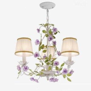 Image 3 - Luxus Rustikalen Ländlichen Europäischen Garten Blatt Blume Hotel Lobby Schlafzimmer Kronleuchter Tropfen Lichter Beleuchtung Für Sitzen Wohnzimmer