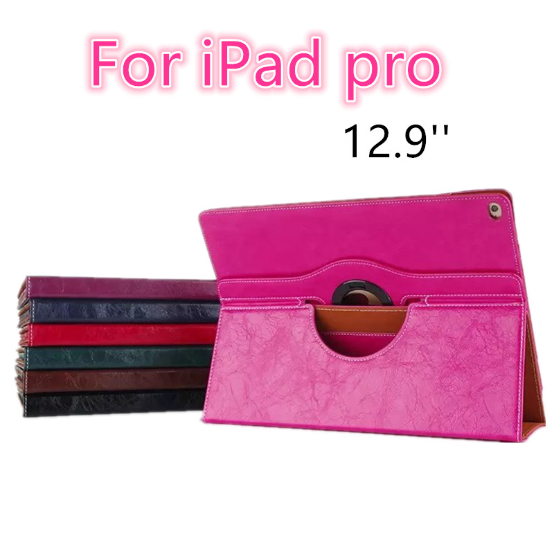 For ipad pro 12.9'' new fashion PU leather Flip Tablet Case cover for Apple iPad pro 12.9 inch protective stand with card slots for ipad mini fashion printed stand flip pu leather case for apple ipad mini 1 2 3 7 9 with card slots fundas coque y4d67d