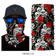 Free Shipping Air Force Skull Tubular Protective Dust Mask Bandana  Motorcycle Riding Hiking Polyester Scarf Face 7271414ec35