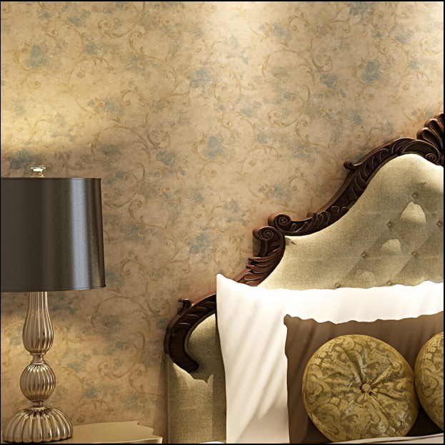 Chinese trumpet creeper non-woven wallpaper restoring ancient ways Sweet bedroom living room wallpaper Europe typ TV setting 163 stereo video wallpaper tv setting europe type restoring ancient ways sitting room bedroom non woven wall sticker home decor