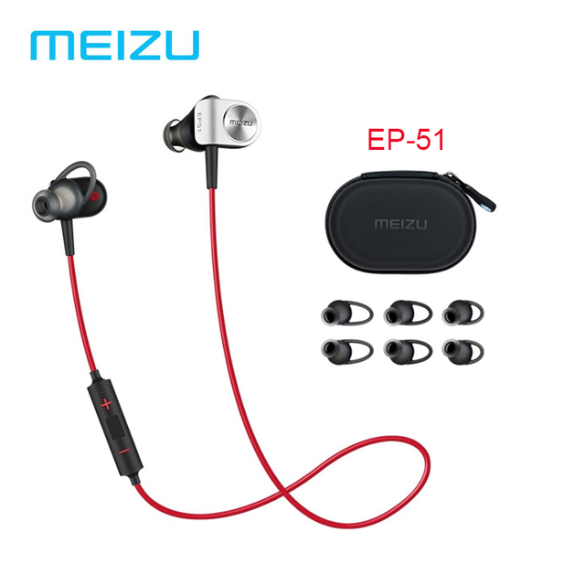 Original Meizu EP51 Bluetooth Earphone Sport Headset for Wireless Earphone Bluetooth Stereo Headset In-Ear APT-X With MIC