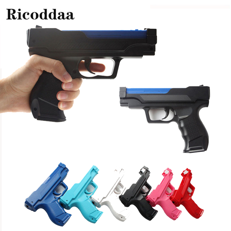 Zapper Gun For Nintend Wii Pistol Shooting Gun For Remote Controller Video Game Gun Bracket Holder For Wii Game Accessories new shooting games zapper gun controller toy shooting gun for nintendo wii nunchuk motion plus remote controller game white jan3